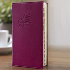We have updated one of our favorite journals in a shade of deep plum. Asking, Blessing, Comfort, Deliverance, Eternal Life, Faith, Grace, Hope, Intercession, Joy, Kindness, Love, Mercy, Newness, Obedience, Power, Quickened, Rest, Serving, Trust, Understanding, Virtue, Wisdom, Excellence, Yielding, and Zeal. This beautiful fuchsia journal has tabbed sections for 26 different topics—one for each letter of the alphabet—that point to Bible verses of God's promises. Roy Lessin, DaySpring…