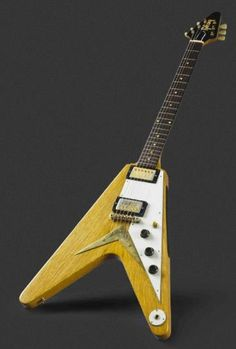 Here's a shot of Richard Gere's 1958 Gibson Flying V. Made of Korina wood with gold-plated hardware and in excellent condition, the guitar was originally owned by Albert King, the legendary bluesman who helped make the V the iconic instrument it is today. The guitar sold at auction for $74,500. Adding to its value is that Gibson allegedly sold fewer than 100 of the earliest Vs between '58 and '59.