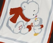 Crochet Pattern - Baby Blanket Pattern - Bear and Penguin - Christmas Baby Blanket - PDF Crochet Pattern - Christmas Baby Crochet Afghan by PatternWorldUK on Etsy Crochet Baby Blanket Beginner, Baby Knitting, Crochet Afgans, Knit Crochet, Double Crochet, Single Crochet, Baby Patterns, Knitting Patterns, Baby Afghan Crochet Patterns