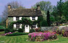 Quaint garden with rustic house, Edensor, United Kingdom -  Credit: Anders Blomqvist