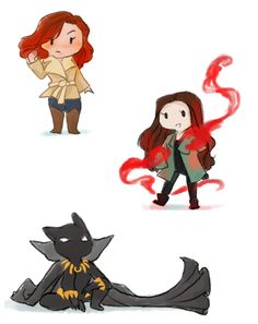 These Civil War chibis are SO CUTE!! Natasha Romanoff. Scarlet Witch. Black Panther.