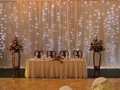 Lighted wedding backdrops.