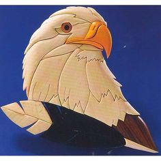View a Larger Image of Eagles Gaze Intarsia Pattern Wood Carving Designs, Wood Carving Patterns, Carving Wood, Bois Intarsia, Intarsia Wood Patterns, Eagle Images, Scroll Saw Patterns Free, Intarsia Woodworking, Woodworking Patterns