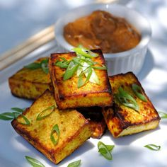 Tofu Satay. Made it and it turned out really good!