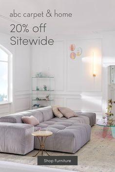 abc Carpet & Home: Modern Furniture & Decor Home Room Design, Home Interior Design, Interior Ideas, Interior Inspiration, Furniture Decor, Furniture Design, Dining Sofa, Sofa Shop, Living Room Decor