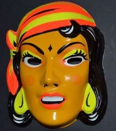 Remember these vintage Halloween masks? you couldn't see and they were steamy!!!