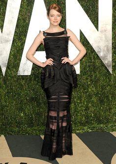 Emma Stone in Chanel at Vanity Fair Oscar party