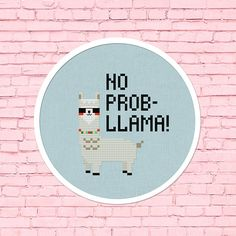 Stitch up this cool no prob-llama cross stitch pattern. Personalize your belongings or adorn on your walls. They also make fantastic gifts for your beloved ones. Skill level: Beginner (Backstitch) Suggested Fabric: 14 ct. aida Finished Design Size on 14 ct. aida: 2.79w x 3.14h Grid Size:
