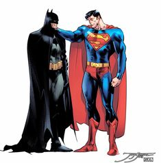World's Finest by Jimenez and Sanchez Dc Comics Superheroes, Dc Comics Characters, Dc Comics Art, Superman X Batman, Batman Art, Superman Artwork, Comic Book Artists, Comic Books Art, Comic Art