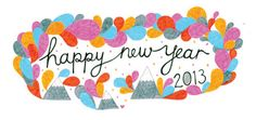 Happy New 2013! #meerianneli #handdrawntype #newyearseve #happynewyear #2013