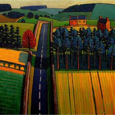 Art Extract Road to Bamburgh by Jim Edwards
