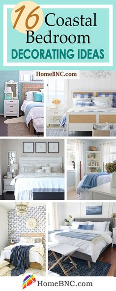 16 Coastal Bedroom Ideas for an In-Home Beach Retreat Decorating Your Home, Diy Home Decor, Decorating Ideas, Decor Ideas, Craft Ideas, Bedroom Ideas, Bedroom Decor, Ethnic Decor, Dream Beach Houses