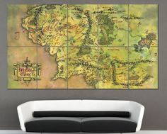 Middle Earth Map Giant Wall Art Poster Print (P-0128) - Posters
