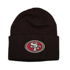 e80f3e1745430 San Francisco 49ers Black Beanie Hat - NFL SF Cuffed Cap by NFL Team  Apparel.