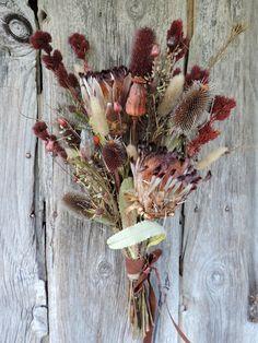 Dried Flower Protea Bouquet Arrangement by CorvidaeCuriosity