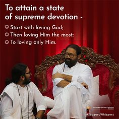 """To attain a state of supreme devotion - Start with loving God; Then loving Him the most; To loving only Him. Love Only, Spiritual Quotes, Motivationalquotes, Love Him, Quote Of The Day, Supreme, Love Quotes, Prayers, Doodles"