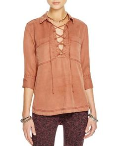Free People Under Your Spell Lace Up Top | Bloomingdale's