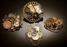 antique buttons Steampunked!