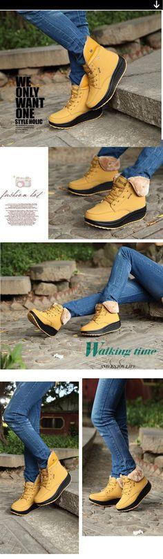 2a139a51bcd Aliexpress.com  Comprar Wdzkn mujeres nieve Botas cuñas Botines mujeres  columpio Zapatos Plush solid
