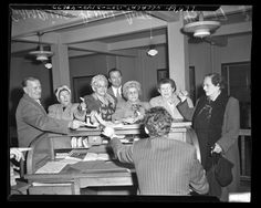 Title:	Senior citizens arrested for penny ante gin rummy gambling in Los Angeles, Calif., 1950 Publication:	Los Angeles Daily News Publication date:	January 1, 1950