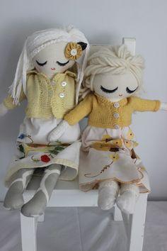 Cloth Doll Plush : Caitlin and Clara