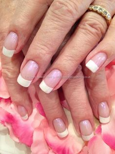 164 Best French Acrylic Nails Images On Pinterest Pretty Nails