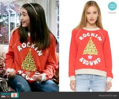 2b6c7cb982b107 Wildfox Rockin  Around Sweatshirt worn by Rowan Blanchard on Girl Meets  World Riley Matthews