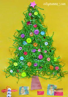 fun christmas tree craft for kids - Christmas Tree Art