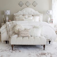 bedroom refresh master styled esale with rugs part lace 2 Master Bedroom Refresh with eSale Rugs Part 2 Styled With Lace bedroomYou can find Rugs and more on our website Lace Bedroom, White Bedroom Furniture, Home Decor Bedroom, All White Bedroom, Bedroom Ideas, Baroque Bedroom, Bedroom Designs, Summer Bedroom, Shabby Chic Bedrooms