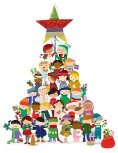 navidad - Buscar con Google Christmas Trees For Kids, Christmas Mood, Noel Christmas, Christmas Wishes, Christmas Projects, Vintage Christmas, Christmas Decorations, Clipart Noel, Christmas Phrases