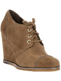 $304.33  TILA MARCH Lace-Up Wedge Ankle Boot