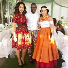 Inside Simphiwe Ngema and Dumi Masilela's wedding - Page 2 of 4 - All 4 Women African Traditional Wedding Dress, Traditional Wedding Attire, Traditional Outfits, African Wedding Attire, African Attire, African Weddings, African Dresses For Women, African Fashion Dresses, African Lace