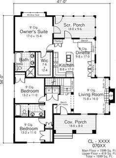 plano de casa estilo ingelsa primer piso
