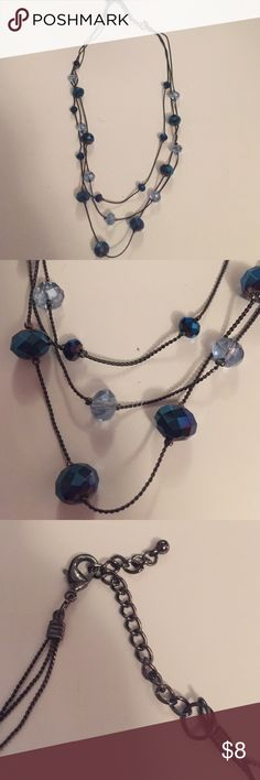 Blue bead necklace Blue bead necklace Jewelry Necklaces