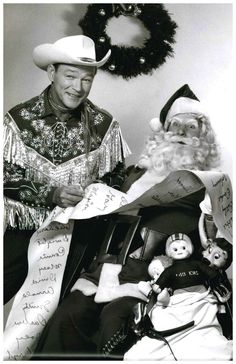 "Merry Christmas from ""The King of the Cowboys""! #RoyRogers"