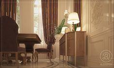 Private villa Qatar by RDE Fight For Us, Villa, Dining Room, Curtains, Interior Design, Classic, Home Decor, Nest Design, Derby