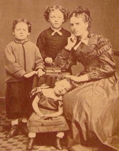 A picture I thought must be Post Mortem; I mean the little girl is slumped over, but it is also possible she is asleep.  It was pointed out to me that no one is wearing mourning clothes, and mother seems unconcerned.  My new philosophy is if there is any question, it probably isn't.