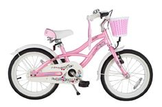 bike*star 40.6cm (16 Inch) Kids Children Girls Bike Bicycle Cruiser - Colour Pink:Amazon.co.uk:Sports & Outdoors