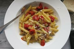 penne with slow roasted tomatoes