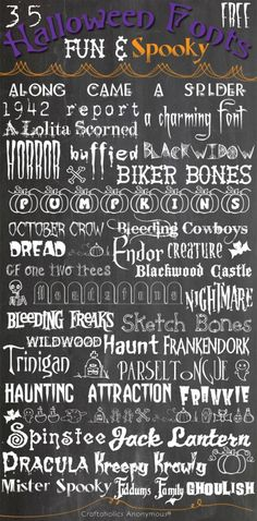 Craftaholics Anonymous® | 35 Fun & Spooky Free Halloween Fonts