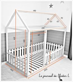 Cama-casita Montessori The post Cama-casita Montessori appeared first on kinderzimmer. Baby Bedroom, Baby Room Decor, Girls Bedroom, Trendy Bedroom, Bedroom Ideas, Big Girl Rooms, Baby Boy Rooms, Kids Room Design, Kid Beds