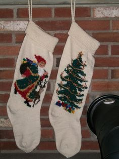 Christmas Stocking Custom Order One Elegant by knottyneedleworker
