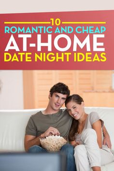 Here are some romantic and creative at home date night ideas for couples. These date ideas are ideal for anniversaries, Valentine's Day, or just ways to rekindle the romance.  Inexpensive date ideas work for couples with any budget