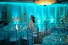 Tiffany Blue uplighting