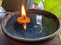 Spring Equinox/Ostara: A Simple Candle And Seed Spell Candle Spells, Candle Jars, Candles, Turmeric Uses, Vernal Equinox, Sabbats, Magick, Witchcraft, Book Of Shadows