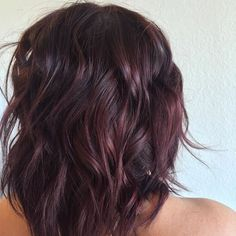 """Salon Red LA on Instagram: """"From deep brown to burgundy wine color by Carolyne…"""