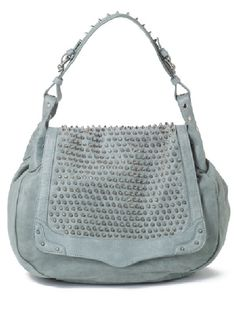 If I didn't have bills to pay, this would be mine!!! #RebeccaMinkoff Moonstruck Hobo- Baby Blue on SALE!