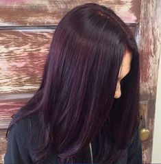 Beautiful Plum Color With Red Violet Highlights By Victoria At #hair #hairstyles