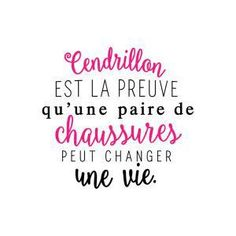 Sticker mural Cendrillon Noir et fuchsia 60 x 60 cm Plus The Words, Cool Words, Positive Attitude, Positive Vibes, Funny Quotes, Life Quotes, Quote Citation, French Quotes, Slogan