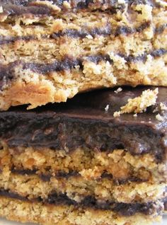 This dish is a long time family favorite. My grandma made it for my dad when he was growing up, but none of us know the origins of the recipe. Graham crackers sealed between layers of chocolate custard makes this treatthe ultimate in comfort food. Save Print Chocolate Ice Box Cake Recipe Author:olives-n-okra Prep time: …